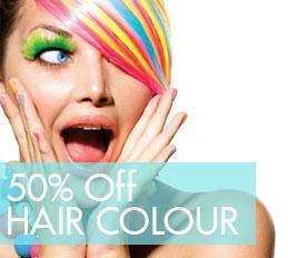50% off Hair Colour