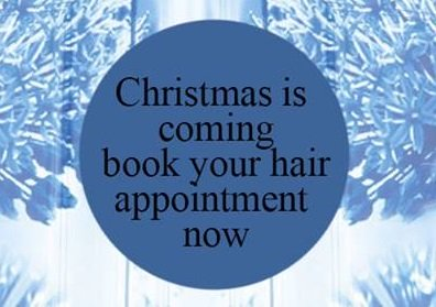 Christmas Beauty Appointments.Christmas Hair Beauty Appointments In Paisley