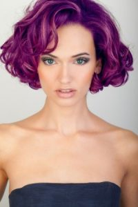Purple Part Hair Colour