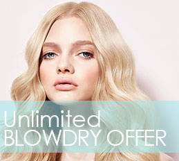 1 Month UNLIMITED Blow-dry Offer