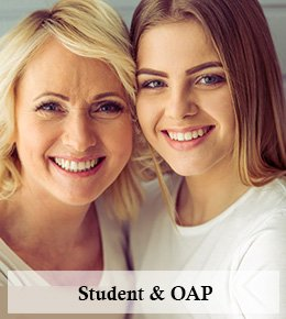 Students & OAPs Discounts