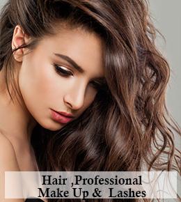 Hair, Professional Make-Up & Lashes £50
